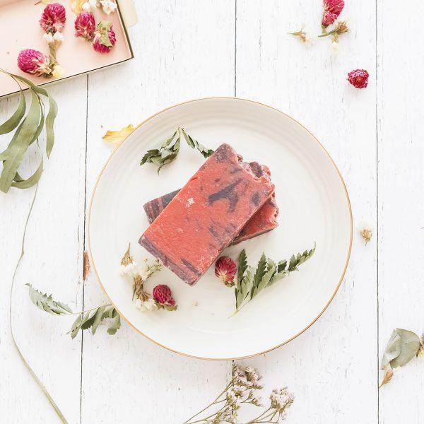 Jabón de arcilla roja
